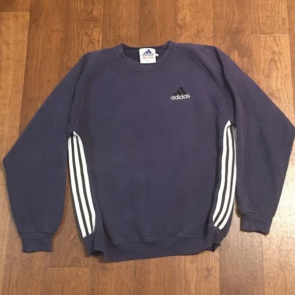 Vintage Adidas Crewneck Sweater SZ Large Mens Navy